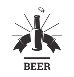 Beer insignia badge vector