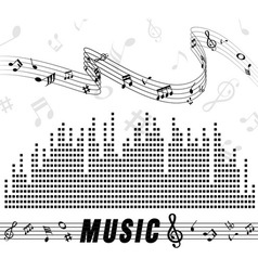 Icon symbol note and music vector