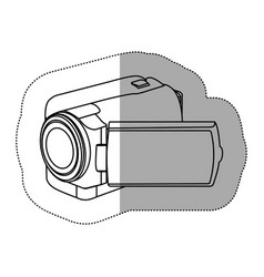 contour camcorder icon image vector image