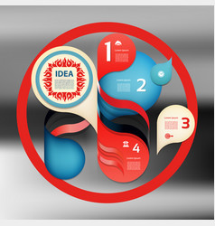 2016725 diagram bluered vector image vector image