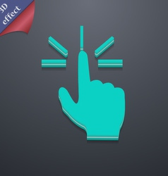 Click here hand icon symbol 3d style trendy modern vector