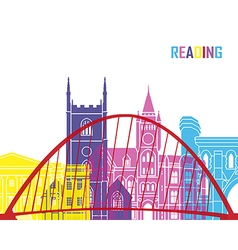 Reading skyline pop vector