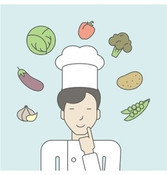 Chef in uniform vector