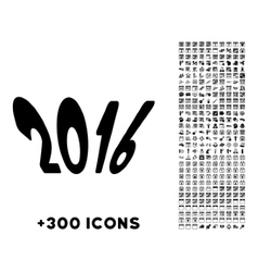 2016 year icon vector