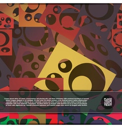 Background with different shapes vector image