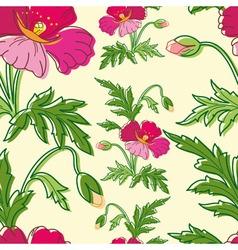 Stylish beautiful bright floral seamless pattern vector image