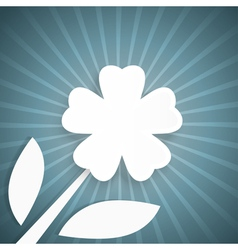 Abstract background with rays and white flower vector image