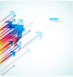 abstract colorful arrows background wallpaper vector image vector image