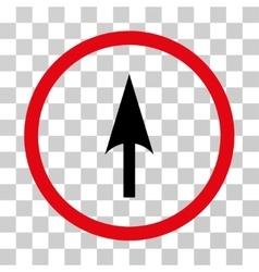 Arrow axis y rounded icon vector