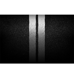 Asphalt texture with road markings background vector