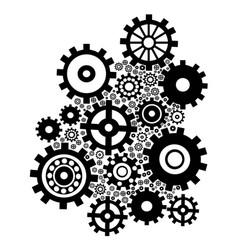 black gears background vector image vector image