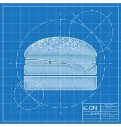 Burger icon eps10 vector