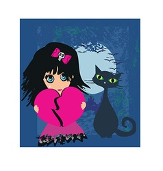 Cartoon female design vector image vector image