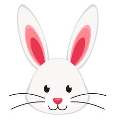 cartoon rabbit bunny face icon poster vector image