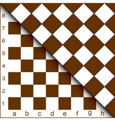 chessboard half vector image