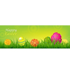 Color Happy Easter Banner vector image vector image
