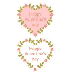 Colorful floral hearts vector