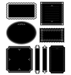 decorative black frames vector image vector image