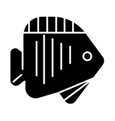 fish tropical icon black vector image vector image