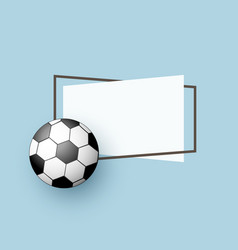 flat cartoon football ball banner vector image vector image