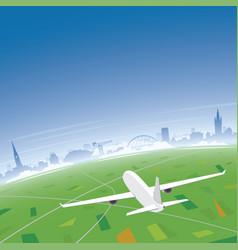 Glasgow skyline flight destination vector