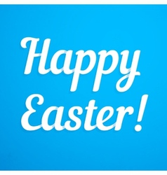 Happy easter paper sign vector