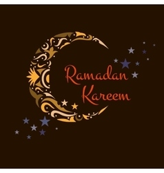 Happy Ramadan Kareem greeting background vector image