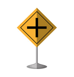 Intersection road traffic signal vector