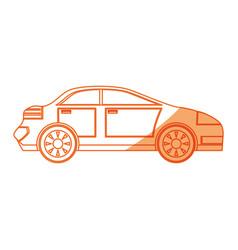 Isolated sport car vector