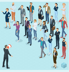 Isometric fpeople with loudspeaker vector