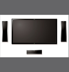 Lcd television with speakers vector