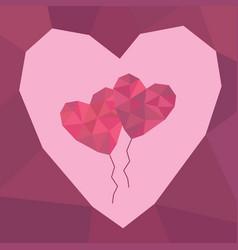 Love balloons vector