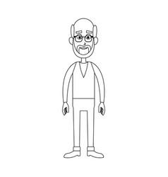 Old man cartoon icon vector