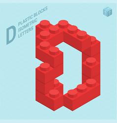 plastic blocs letter d vector image