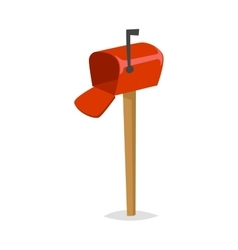 Post mailbox vector image