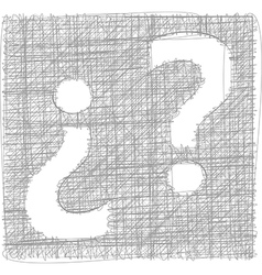 Question mark - freehand symbol vector