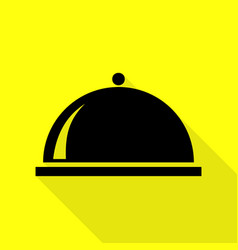 Server sign black icon with flat vector