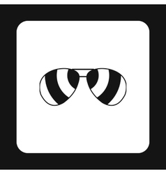 Sunglasses icon simple style vector image vector image