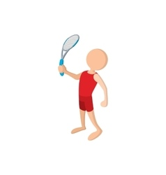 Tennis player cartoon icon vector image