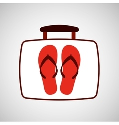travel concept flip flops beach vector image
