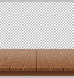 wood table top on isolated background vector image vector image
