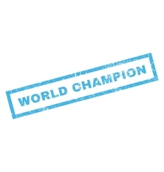 World champion rubber stamp vector
