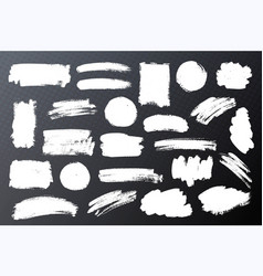 Set of paint ink brush strokes backgrounds vector