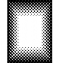Halftone picture frame vector