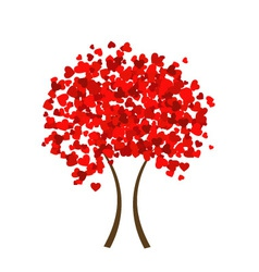 Valentine heart tree vector