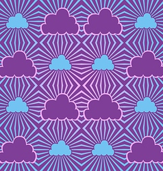 Seamless sky with clouds vector