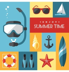 Summer icons set 1 vector