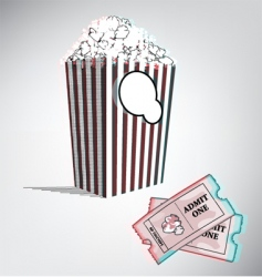 3D movie vector image