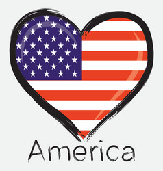 Love america flag vector
