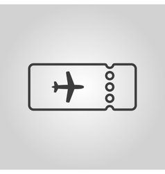 The blank ticket plane icon travel symbol flat vector